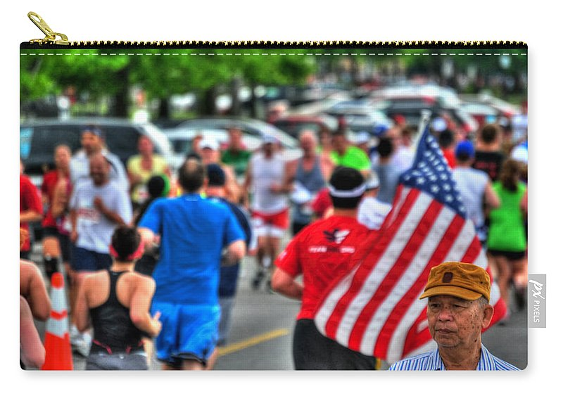 Carry-all Pouch featuring the photograph 0001 Buffalo Marathon Series 2012 by Michael Frank Jr