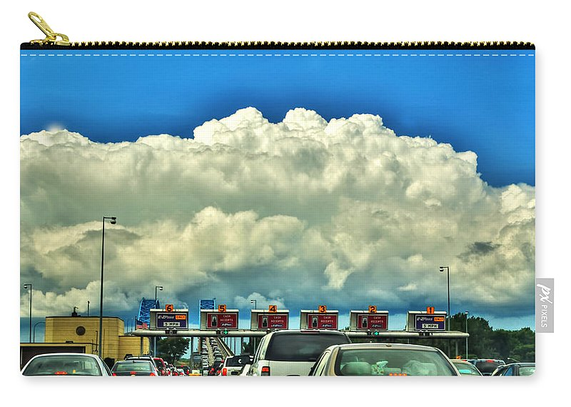 Carry-all Pouch featuring the photograph 003 Grand Island Bridge Series by Michael Frank Jr