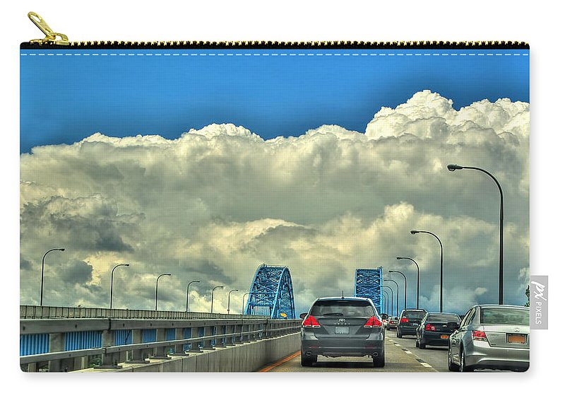 Carry-all Pouch featuring the photograph 004 Grand Island Bridge Series by Michael Frank Jr