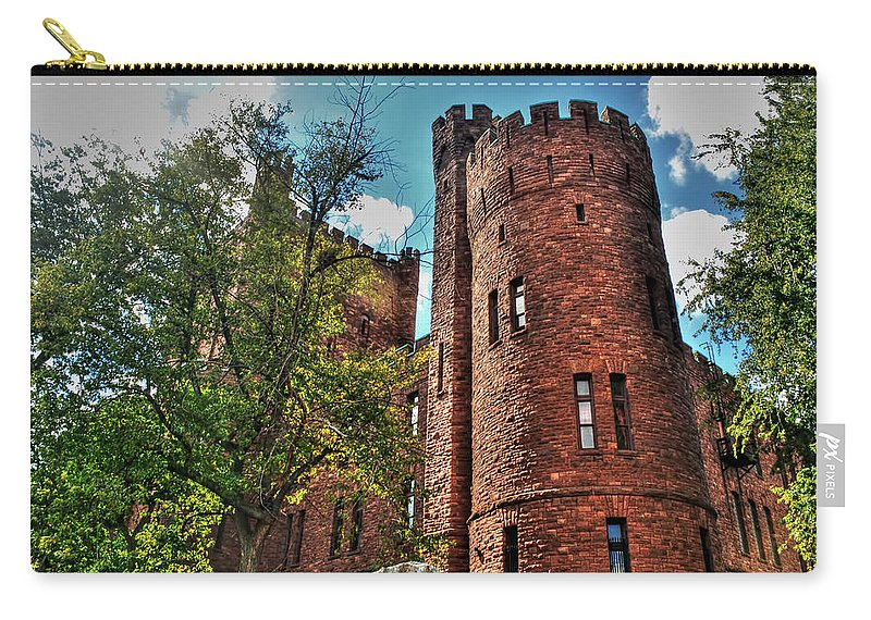 Carry-all Pouch featuring the photograph 005 The 74th Regimental Armory In Buffalo New York by Michael Frank Jr