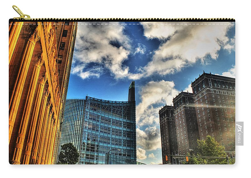 Carry-all Pouch featuring the photograph 005 Wakening Architectural Dynamics by Michael Frank Jr
