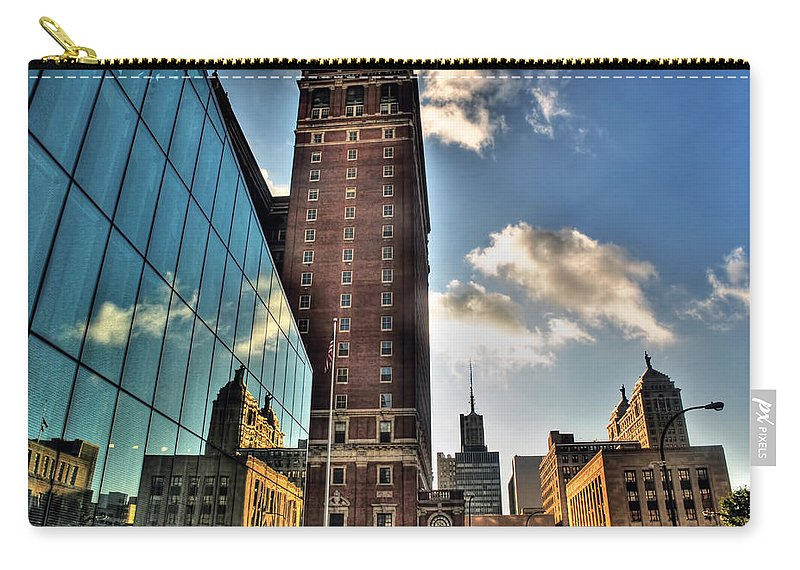 Carry-all Pouch featuring the photograph 006 Wakening Architectural Dynamics by Michael Frank Jr