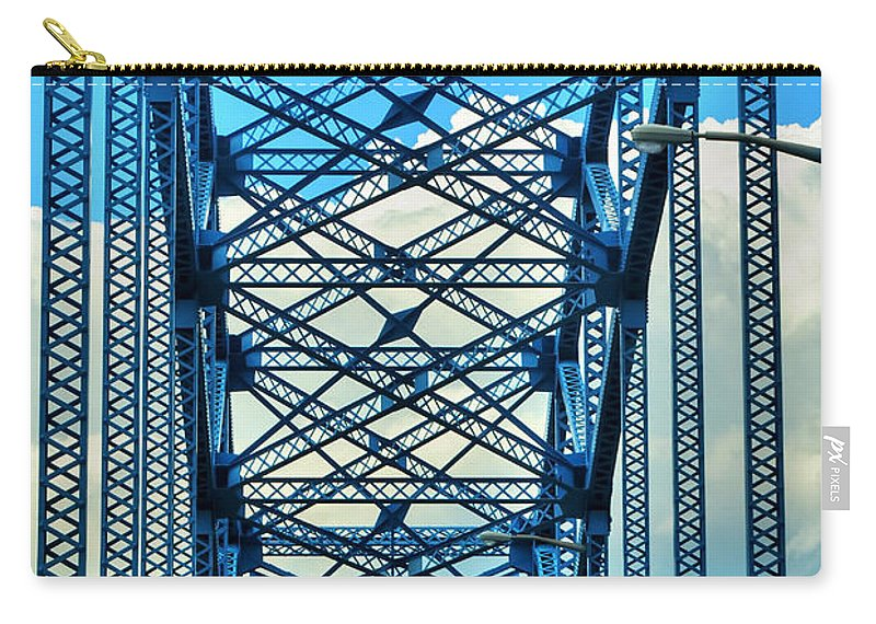 Carry-all Pouch featuring the photograph 007 Grand Island Bridge Series by Michael Frank Jr