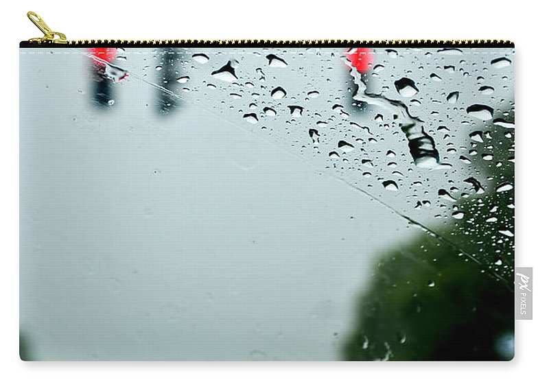 Carry-all Pouch featuring the photograph 01 Crying Skies by Michael Frank Jr
