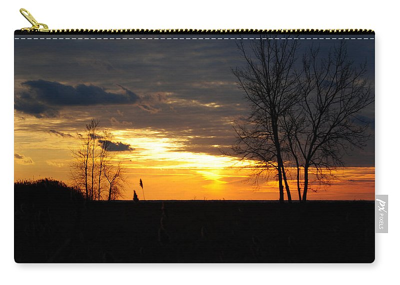 Carry-all Pouch featuring the photograph 01 Sunset by Michael Frank Jr