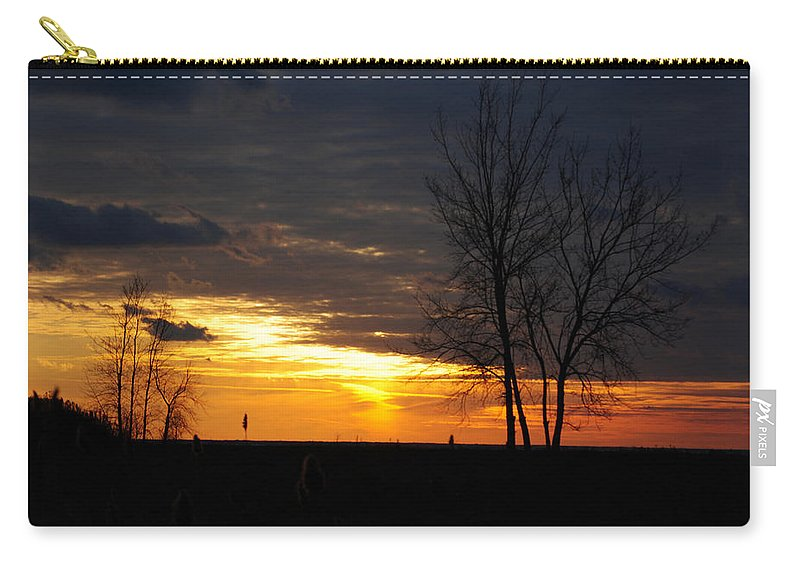 Carry-all Pouch featuring the photograph 02 Sunset by Michael Frank Jr