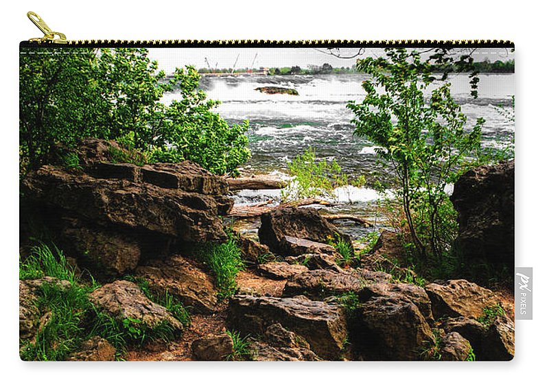 Carry-all Pouch featuring the photograph 02 Three Sister Islands by Michael Frank Jr