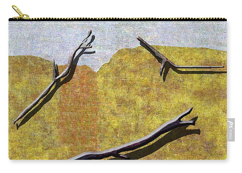 Abstract Carry-all Pouch featuring the digital art 0291 Abstract Landscape by Chowdary V Arikatla