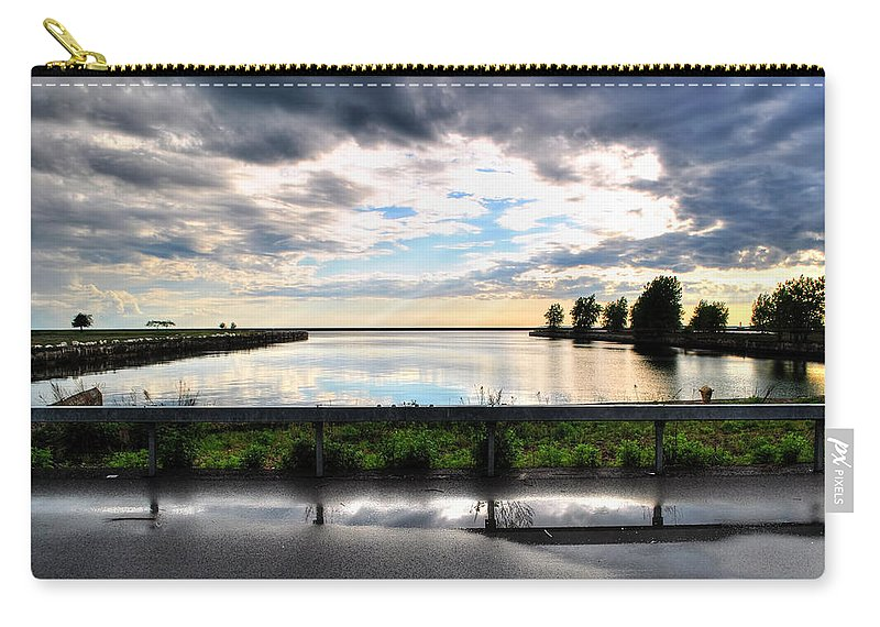 Carry-all Pouch featuring the photograph 03 Reflecting by Michael Frank Jr