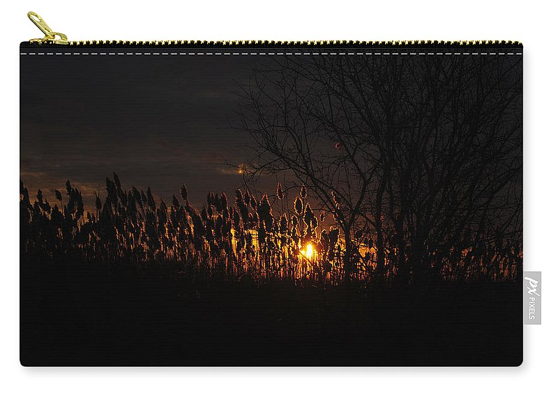 Carry-all Pouch featuring the photograph 03 Sunset by Michael Frank Jr