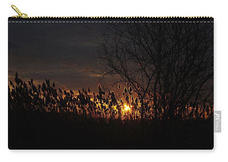 Carry-all Pouch featuring the photograph 04 Sunset by Michael Frank Jr