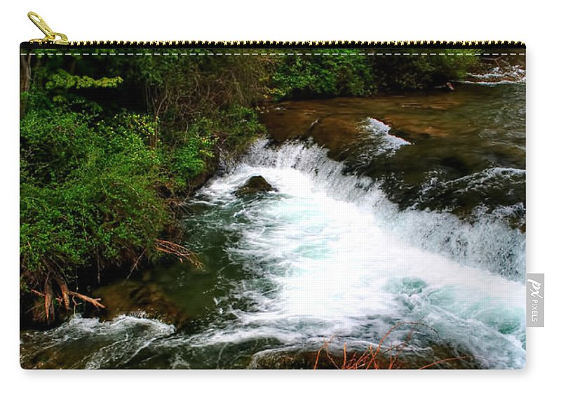 Carry-all Pouch featuring the photograph 04 Three Sisters Island by Michael Frank Jr
