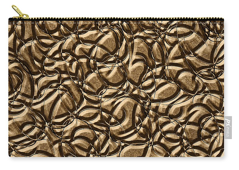 Abstract Carry-all Pouch featuring the digital art 0443 Metals And Malleability by Chowdary V Arikatla