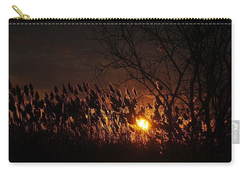 Carry-all Pouch featuring the photograph 06 Sunset by Michael Frank Jr