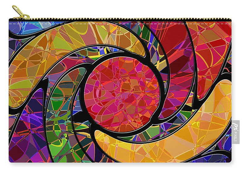Abstract Carry-all Pouch featuring the digital art 0677 Abstract Thought by Chowdary V Arikatla