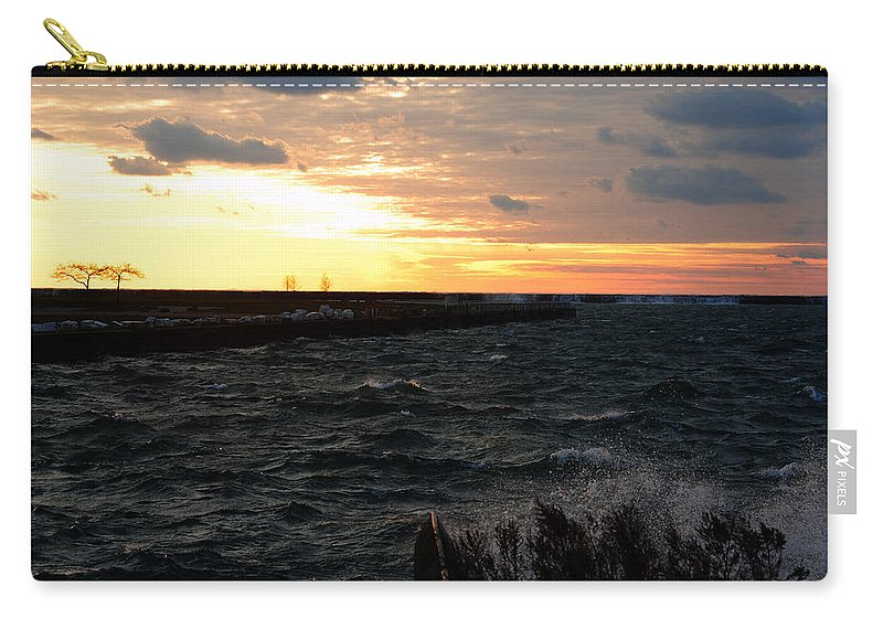 Carry-all Pouch featuring the photograph 08 Sunset by Michael Frank Jr