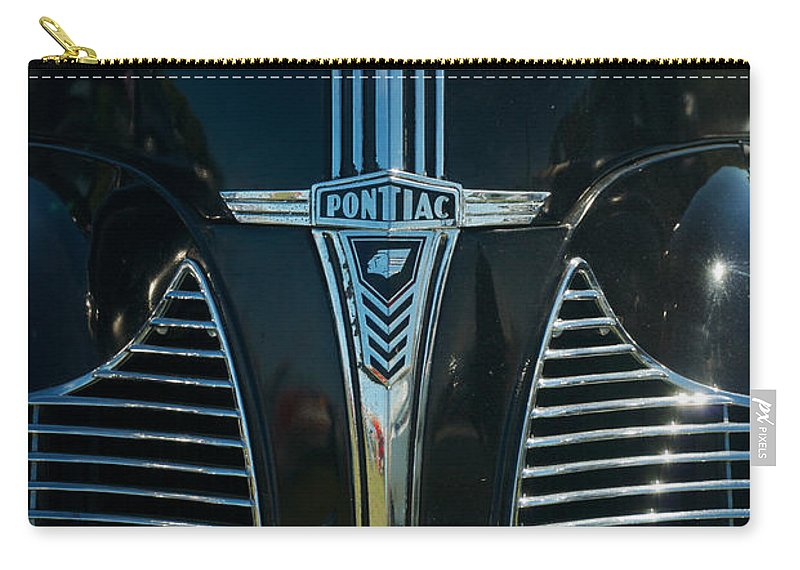 1940 Pontiac Carry-all Pouch featuring the photograph 1940 Pontiac by Mark Dodd