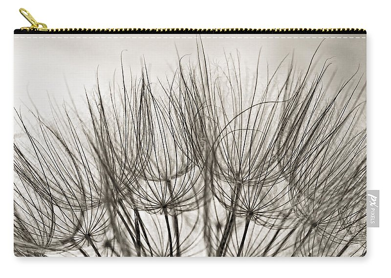 Macro Carry-all Pouch featuring the photograph A Delicate World Monochrome by Steve Harrington