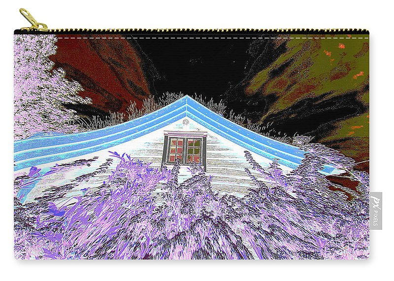 Flowery House Carry-all Pouch featuring the digital art A Flowery House In Norway by Augusta Stylianou