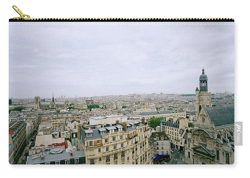 Paris Carry-all Pouch featuring the photograph Paris Vista by Shaun Higson