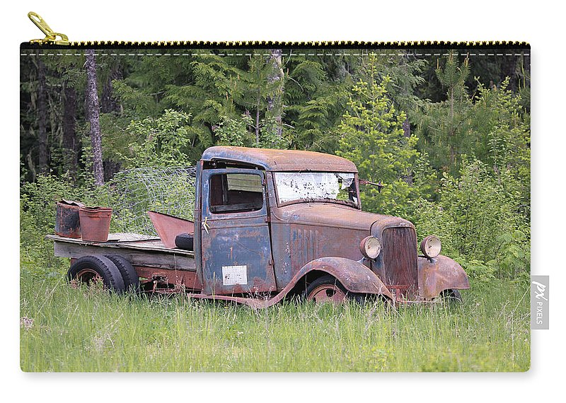 Pickup Carry-all Pouch featuring the photograph Abandoned Truck by Athena Mckinzie
