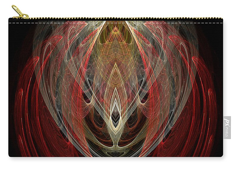 Fractal Digital Art Carry-all Pouch featuring the photograph Abstract Eighty by Mike Nellums