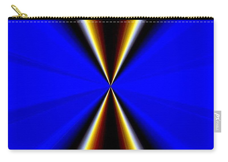 Abstract Fusion Carry-all Pouch featuring the digital art Abstract Fusion 60 by Will Borden