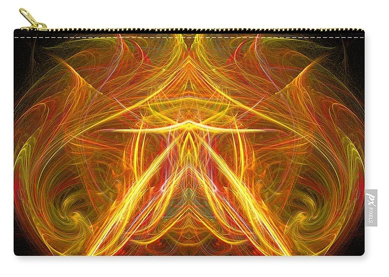 Fractal Digital Art Carry-all Pouch featuring the photograph Abstract Ninety-eight by Mike Nellums