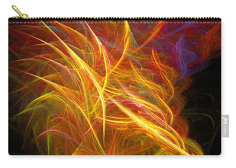Fractal Digital Art Carry-all Pouch featuring the photograph Abstract Ninety-nine by Mike Nellums