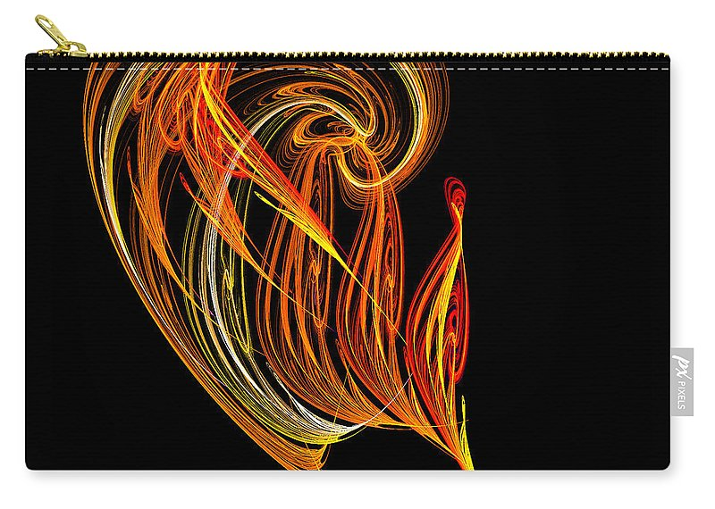 Fractal Digital Art Carry-all Pouch featuring the photograph Abstract Ninety-three by Mike Nellums