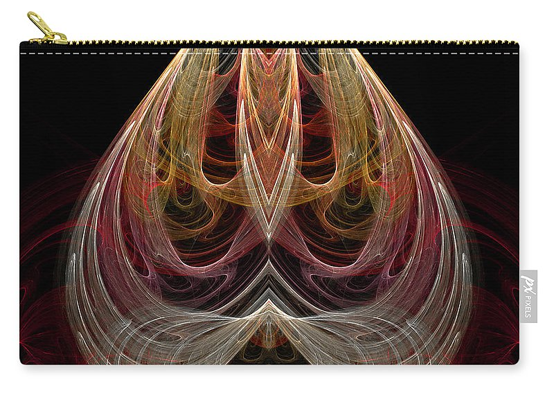 Fractal Digital Art Carry-all Pouch featuring the photograph Abstract Seventy-nine by Mike Nellums