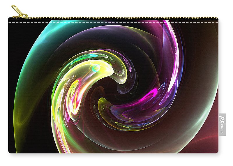 Fractal Digital Art Carry-all Pouch featuring the photograph Abstract Seventy-three by Mike Nellums