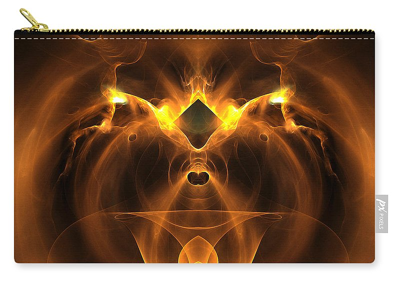 Fractal Digital Art Carry-all Pouch featuring the photograph Abstract Sixty-five by Mike Nellums