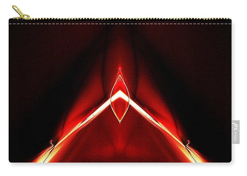 Fractal Digital Art Carry-all Pouch featuring the photograph Abstract Sixty-two by Mike Nellums