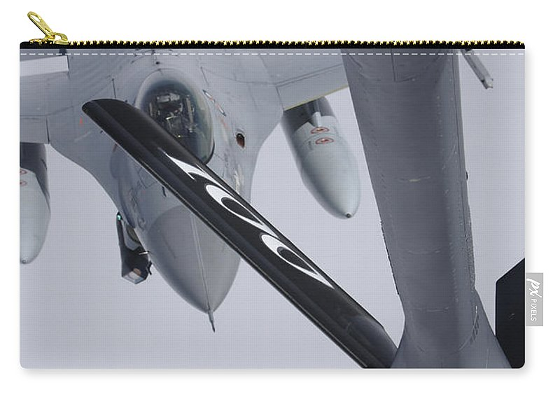 Transportation Carry-all Pouch featuring the photograph Air Refueling A Norwegian Air Force by Daniel Karlsson