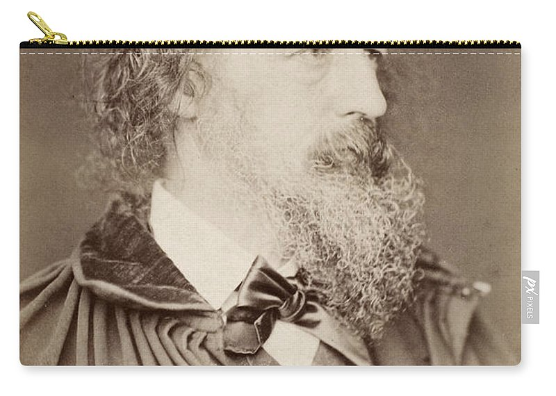 1880 Carry-all Pouch featuring the photograph Alfred Tennyson by Granger