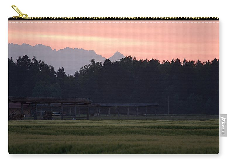 Julian Carry-all Pouch featuring the photograph Alpine Sunset by Ian Middleton