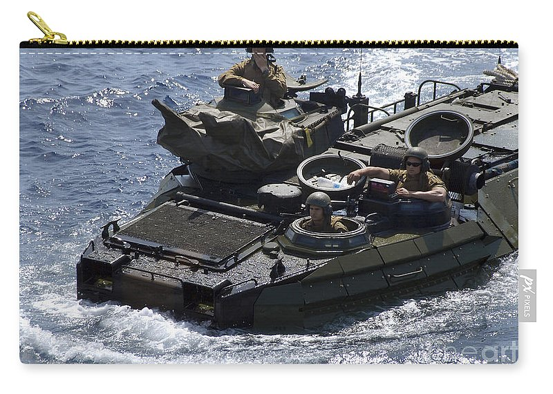 Marines Carry-all Pouch featuring the photograph An Amphibious Assault Vehicle by Stocktrek Images