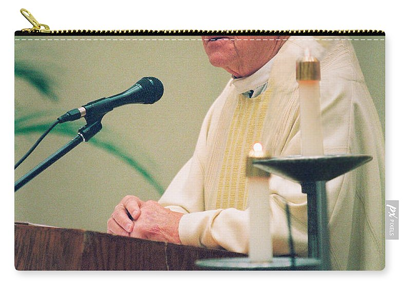 Archbishop Raymond Hunthausen Carry-all Pouch featuring the photograph Archbishop Raymond Hunthausen by Mike Penney