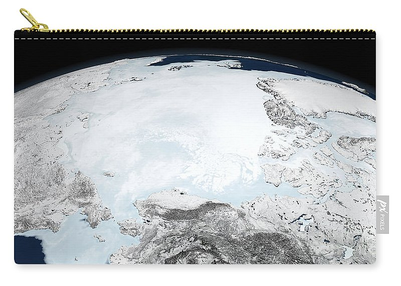 Landmass Carry-all Pouch featuring the photograph Arctic Sea Ice by Stocktrek Images