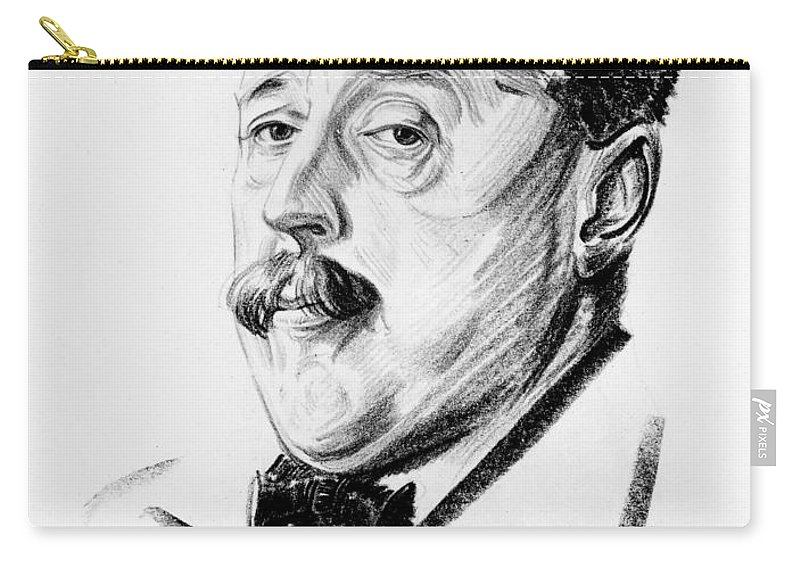 1923 Carry-all Pouch featuring the photograph Arnold Bennett (1867-1931) by Granger