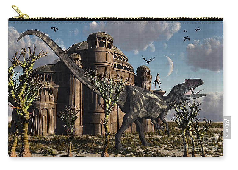 Reptile Carry-all Pouch featuring the digital art Artists Concept Of A Reptoid Race Whom by Mark Stevenson