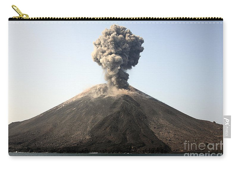 Island Carry-all Pouch featuring the photograph Ash Cloud From Vulcanian Eruption by Richard Roscoe