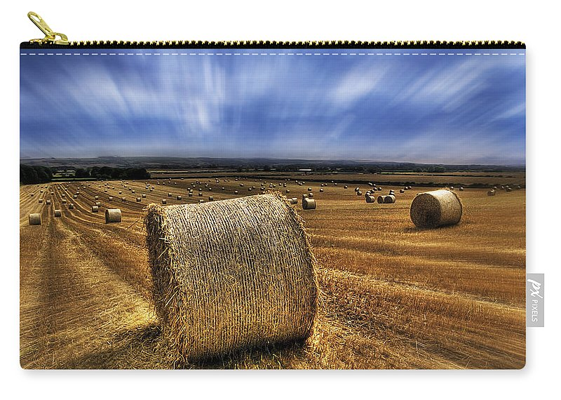 Summer Carry-all Pouch featuring the photograph August Field by Svetlana Sewell