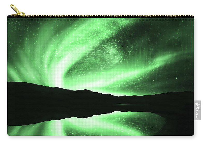 Above Carry-all Pouch featuring the photograph Aurora by Setsiri Silapasuwanchai