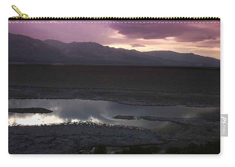 Badwater Basin Carry-all Pouch featuring the photograph Badwater Basin Death Valley National Park by Benjamin Dahl