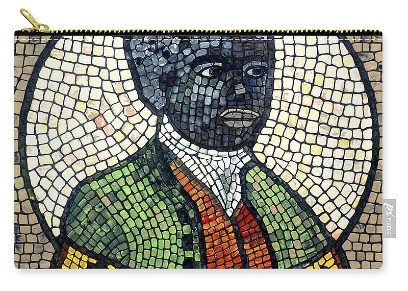 Black Man Carry-all Pouch featuring the painting Bannaker by Cynthia Amaral