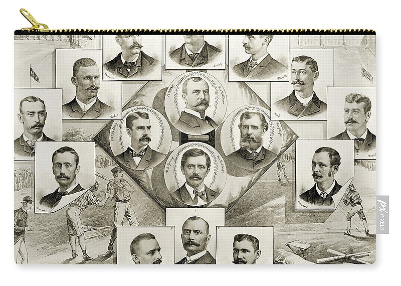 1894 Carry-all Pouch featuring the photograph Baseball, 1894 by Granger