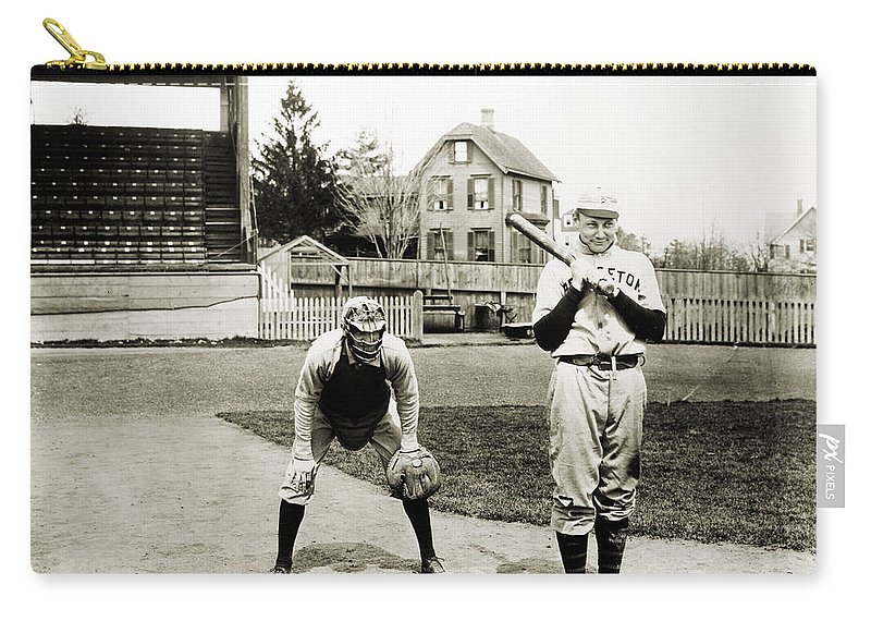1901 Carry-all Pouch featuring the photograph Baseball: Princeton, 1901 by Granger