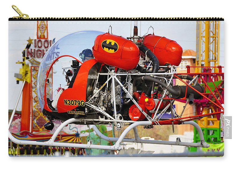 Fine Art Photography Carry-all Pouch featuring the photograph Batcopter by David Lee Thompson